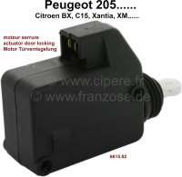 Actuator for door locking (operation of the pull rod in the lock). Suitable for Peugeot 205, 106, 206, 306, 309, 405, 406, 806, Expert 1 + 2. Citroen: AX, BX, C15, Evasion, Jumpy 1 + 2, Xantia 1 + 2, XM 1 + 2. Or. No. 6615.02 - 75366 - Der Franzose