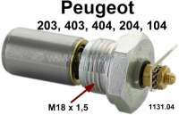 Oil pressure switch. Thread: M18 x 1,5. Suitable for Peugeot 203 + 403. Peugeot 104, 204, 304, 404. Citroen VISA. Response pressure: 0,6 bar. Or. No. 1131.04 | 71070 | Der Franzose - www.franzose.de