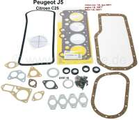 P J5/C25, engine gasket set. Engine: XM7T (petrol 1.8). Suitable for Peugeot J5 + Citroen C25, of year of construction 11/1981 to 02/1994. Or. No. 0197.15 - 71063 - Der Franzose