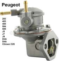 Gasoline pump Peugeot. Reproduction made of metal. Suitable for Peugeot 203, 403, 404, 504, 505 GL/GR/SR, D3A, D4A, J5, J7, J9, Jeep P4, Citroen C25. Good quality. - 72014 - Der Franzose
