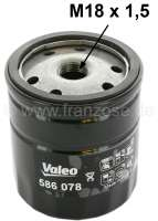 Oil filter LS152B/LS144B, for Peugeot 204, of year of construction 10/1970 to 09/1975. Peugeot 304, Peugeot 404 starting from year of construction 1968, 504, J5, Citroen C25. Connecting thread: M18 x 1,5mm. Height: about 98mm - 71119 - Der Franzose