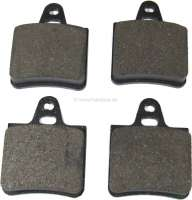 Brake pads rear (ATE). Suitable for Citroen CX, all models (sedan) starting from year of construction 1974. Citroen BX. Dimension: 54.1 x 64,6mm. -1 - 44023 - Der Franzose
