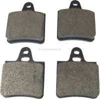 Brake pads rear (ATE). Suitable for Citroen CX, all models (sedan) starting from year of construction 1974. Citroen BX. Dimension: 54.1 x 64,6mm. - 44023 - Der Franzose