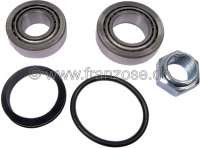 P 104/VISA/Talbot, wheel bearing set rear, Visa all models, LNA, Peugeot 104, Talbot Samba. 1x bearing 47,1mm outside, 24,9mm inside, 11,6mm wide one. 1x bearing 42,1mm outside, 19,8mm inside, 12mm wide one. Manufacturer SKF. - 73413 - Der Franzose