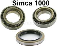 Simca, wheel bearing set for the rear axle. Suitable for Simca 1000 from year of construction 1961 to 1978. Simca 1200 S, from year of construction 1968 to 1971. Contents: 2x identically constructed bearings. Outside diameter: 50,3mm. Inside diameter: 27,0mm. Overall height: 14,8mm. - 73613 - Der Franzose