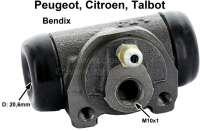 wheel brake cylinder P104, Visa, LNA, Samba System Bendix, piston 20,6mm - 73407 - Der Franzose