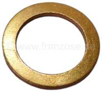 Brake hose copper sealing ring. Dimension: 13 x 19 x 1,5mm. Peugeot Or. No. 461001 - 74630 - Der Franzose