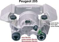 P 205, brake caliper in front on the right, brake system Bendix, piston  diameter 48mm, suitable for Peugeot 205, 305, original No. 440076 - 74478 - Der Franzose
