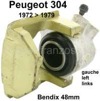 P 304, brake caliper front on the left (in the exchange). Brake system: Bendix. Suitable for Peugeot 304, of year of construction 1972 to 1979. 1 piston. Piston diameter: 48mm. Plus Old part deposit 100 Euro. - 74130 - Der Franzose