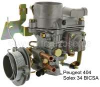 P 404, carburetor 34 BICSA. Suitable for Peugeot 404 (engine XC6). Not suitable for automatic gearbox. Peugeot 403. Peugeot 504 (engine XM7). - 72013 - Der Franzose