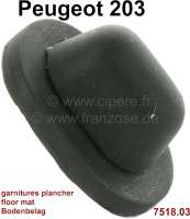 P 203, rubber (oval) for the securement from the floor mat. Suitable for Peugeot 203. Or. No. 7518.03 - 78722 - Der Franzose