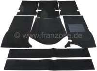 P 404, carpet set from Velour. Suitable for Peugeot 404 sedan. Color: black. - 77750 - Der Franzose