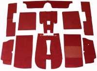 Carpet set of Velour dark red, for Peugeot 504 Cabrio. 11 pieces. - 78055 - Der Franzose