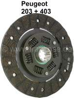 P 203, clutch disk. Suitable for Peugeot 203. Diameter: 200mm. 10 teeth. For shaft with 30x25mm. Or. No. 2054.12 - 71196 - Der Franzose
