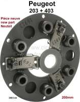 P 203/403 clutch pressure plate (new part). Suitable for Peugeot 203 + 403. For clutch disk diameter: 200mm. Or. No. 2003.44 - 71194 - Der Franzose