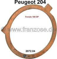 P 204, check disk clutch, clutch-laterally. Suitable for Peugeot 204. Or. No. 2072.04 (clutch Ferodo 180 DP) - 71370 - Der Franzose