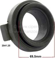 P 204, clutch release sleeve Peugeot 204. For clutch Ferodo 200 DPP (200mm) + LUK TS 190 (190mm). Or. No. 204125. - 72996 - Der Franzose
