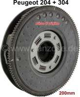 P 204/304, pressure plate completely, with clutch disk. Diameter: 200mm. With torsion spring in the clutch disk. Suitable for Peugeot 204 + 304. Original VERTO, no reproduction. | 72412 | Der Franzose - www.franzose.de
