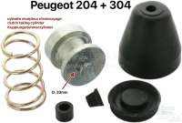 P 204/304, clutch taking cylinder repair set (only rubber). Suitable for Peugeot 204 + 304. For piston diameters: 30mm. - 72227 - Der Franzose