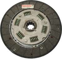 P 403, clutch disk. Suitable for Peugeot 403, old model. Diameter: 215mm. Clutch liner strength: totally 8,5mm. 10 teeth with 29/24mm diameter. - 72157 - Der Franzose