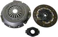 P 504/505, clutch set, suitable for Peugeot 504 (petrols), starting from year of construction 01/1971. Peugeot 505 (petrols), starting from year of construction 08/1979. For gearbox BA7 (large clutch release sleeve). Diameter: 215mm. Number of teeth: 10. Hub profile: 10x24,5x29. Or. No. 200193 n+ 200491 + 205123 + 205320. Original equipment quality - 72993 - Der Franzose