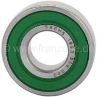 P 505/604. Guide bearing (pilot bearing) for the clutch. Suitable for Peugeot 505 + 604. Outside diameter: 40,0mm. Inside diameter: 17,0mm. Overall height: 12,0mm. Or. No. 524090 - 72992 - Der Franzose