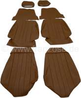 P 304C, coverings (2x seat in front). Color: Vinyl brown. Suitable for Peugeot 304 Cabrio. - 78102 - Der Franzose