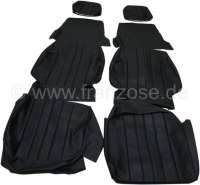 P 304C, coverings (2x seat in front). Color: Vinyl black. Suitable for Peugeot 304 Cabrio. - 78103 - Der Franzose