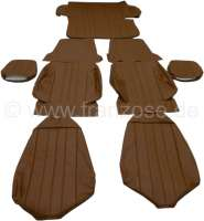 P 304C, coverings set (2x seat in front, 1x seat bench rear). Color: Vinyl brown. Suitable for Peugeot 304 Coupe. - 78104 - Der Franzose