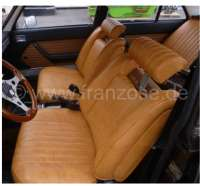 P 504, coverings (2x seat in front, 1x seat bench rear). Color: Vinyl beige. Suitable for Peugeot 504 TI sedan. - 78092 - Der Franzose