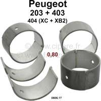 Connecting rod bearing (complete set) for fuel engines with 3 crankshaft bearings. Dimension: 0.80 oversize. Diameter crankshaft: 44,175 to 44,191mm. Wide one: 27mm. Suitable for Peugeot 203 (all engines). Peugeot 403 (all petrols). Peugeot 404 first serie (8CV), engine XC + XB2 (404 U6). Or. No. 0606.17 - 71275 - Der Franzose