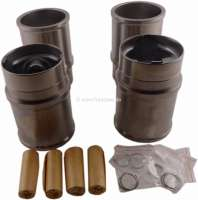 P 304, pistons + liner (4 pieces). Suitable for Peugeot 304, of year of construction 09/1970 to 10/1975. Peugeot 304S, of year of construction 09/1972 to 10/1975. Engine XL3 XL3S, second generation. Bore: 76mm. Engine capacity: 1288cc. Piston rings: 1,75 + 2.0 + 4,0mm. Piston height: 73,5mm. Piston pin: 20.5 x 63mm. Height of liner totally: 128,00mm. -1 - 71254 - Der Franzose