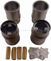 P 304, pistons + liner (4 pieces). Suitable for Peugeot 304, of year of construction 09/1970 to 10/1975. Peugeot 304S, of year of construction 09/1972 to 10/1975. Engine XL3 XL3S, second generation. Bore: 76mm. Engine capacity: 1288cc. Piston rings: 1,75 + 2.0 + 4,0mm. Piston height: 73,5mm. Piston pin: 20.5 x 63mm. Height of liner totally: 128,00mm. - 71254 - Der Franzose