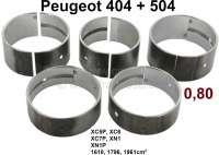 P 404/504, crankshaft bearing, oversize 0,80. Suitable for Peugeot 404 (1967 - 1971). Peugeot 504 (03/1971 - 10/1971). Peugeot 505 (09/1980 - 10/1981). J5 (03/1980 - 10/1981). J7 (09/1968 - 03/1980). For engines: XC5P, XC6, XC7, XC7P, XM7P, XN1, XN1P. 1618cc, 1796cc, 1971cc. - 71158 - Der Franzose