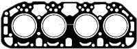 P 404/504/694/J7/HY, cylinder head gasket Diesel, for engines XD4.88, XDP4.88, XDP4.90, XDP88, XDP90, XDPX90. (1948cc + 2112cc). Suitable for Peugeot 404 D, 504 D, 604 D, J7 Diesel. Citroen HY Diesel. Or. No. 0203.70 - 71266 - Der Franzose
