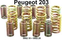 P 203, valve springs (8x largely + 8x small) for the inlet + exhaust valves. Suitable for Peugeot 203. Or. No. 0952,19 + 0952.20 - 71353 - Der Franzose