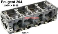 P 204, cylinder head, new part. Suitable for Peugeot 204, of salon 1968 to salon 1969 (one-piece cylinder head). Original Peugeot, no reproduction. Or. No. 0201.77 | 70832 | Der Franzose - www.franzose.de