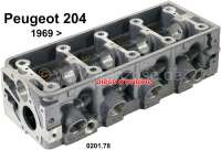 P 204, cylinder head, new part. Suitable for Peugeot 204, starting from salon 1969 (one-piece cylinder head). Original Peugeot, no reproduction. Or. No. 0201.78 | 70833 | Der Franzose - www.franzose.de