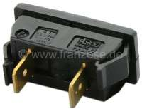 Push-button actuator for control of the brake warning lamp. Suitable for Peugeot 404 (starting from salon 1967) + Peugeot 304. Or. No. 6115-01 -2 - 75327 - Der Franzose