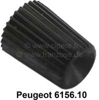 Push-button from synthetic, for the trip meter. Suitable for Peugeot 204, 304, 504. Or. No. 6156.10 - 78200 - Der Franzose