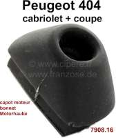 P 404C, rubber buffer for the bonnet (locks at the body, in the engine compartment). Suitable for Peugeot 404 Cabriolet + Coupe. Or. No. 7908.16 - 77827 - Der Franzose