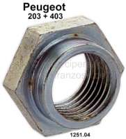 P 203, nut for the shaft of the water pump. Suitable for Peugeot 203 + 403. Or. No. 1251.04 | 72408 | Der Franzose - www.franzose.de