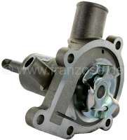 P 204/304, water pump, with disengageable fan blade. Length of the axle: 54,5mm to water pump housings. 60mm up to the bearing. Suitable for Peugeot 204 + 304. For engine: XK5/4, XK, XL, XIDL. Or. No. 1202.67 -1 - 72028 - Der Franzose