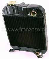 P 404, radiator (new part). Suitable for Peugeot 404 petrol, all models. Dimension: 330 x 358 x 38mm. Or. No. 1301.43 -1 - 72078 - Der Franzose