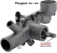 P 404/504, water pump, for rigid fan blade. Suitable for Peugeot 404 + Peugeot 504. Engine: For 1,6, 1.8, 2,0L (XC7). Installed starting from year of construction 1960. The water pump is for the first version, with rigid fan blade. Length of the shaft: 37mm. 3x connection. Or. No. 1202.13 + 1202.37 - 72029 - Der Franzose