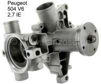 P 504 V6, water pump for Peugeot 504 V6 2.7 IE. Peugeot 604 V6 IE. Renault R30 IE. This water pump is suitable only for fuel injection engines! This water pump does not fit at carburetor engines! - 72871 - Der Franzose