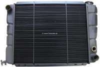 P 505, radiator. Suitable for Peugeot 505 (2, o TI + 2.2 GTI), to year of construction 1984. Radiator core measurements: 440 x 358 x 34mm. Or. No. 1305.32 - 72776 - Der Franzose