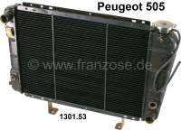 P 505, radiator. Suitable for Peugeot of 505 petrol with air conditioning (2,0 TI, STI/2.2/2.2 GTI), of year of construction 09/1979 to 05/1984. Or. No. 1301.53. New old stock (NOS) - 72388 - Der Franzose