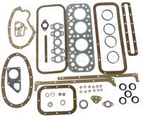 P 203, engine gasket set completely, inclusive cylinder head gasket. Suitable for Peugeot 203, starting from year of construction 1948. - 72166 - Der Franzose