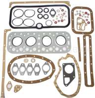 P 403, engine gasket set (inclusive cylinder head gasket). Suitable for Peugeot 403, of year of construction 1959 to 1966. Fuel engines. 1290cc - 1485cc. Without shaft seals. Or. No. 0199.13 - 71105 - Der Franzose